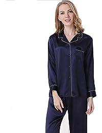 Sue Mujer 100% Seda Pura Pijama Dama Ropa de Dormir Ropa de Dormir Bata de