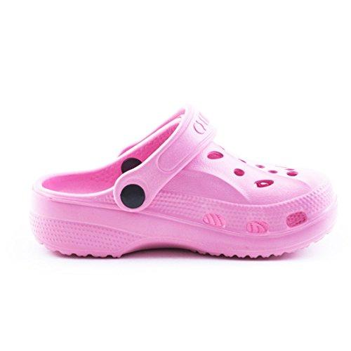 Trendige Unisex Damen Kinder Herren Garten Sommer Wasser Aqua Clogs Schuhe Rosa Kids