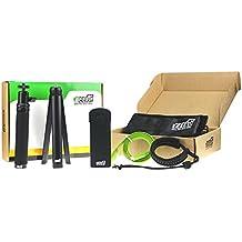 Kit de accesorios para Ricoh Theta S 5 en 1 EEEKit con selfie stick, Mini trípode, Securiy correa de muñeca, carcasa de silicona w/tapa de objetivo, Micro HDMI a HDMI cable (negro)