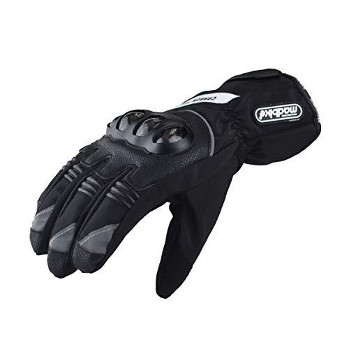 Madbike, guanti da moto impermeabili con protezione in carbonio