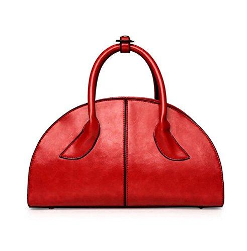 National Style Classic Shells Stickerei Frauen Handtasche Umhängetasche Messenger Bag Elegant Brown