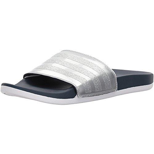 adidas Damen Adilette CF+ Explorer Badeschuhe, Blau (Collegiate Navy/Collegiate Navy/Footwear White), 40.5 EU Frauen-tennis-schuhe Blau