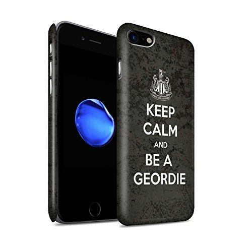 Officiel Newcastle United FC Coque / Clipser Matte Etui pour Apple iPhone 8 / Regarder NUFC Design / NUFC Keep Calm Collection Geordie