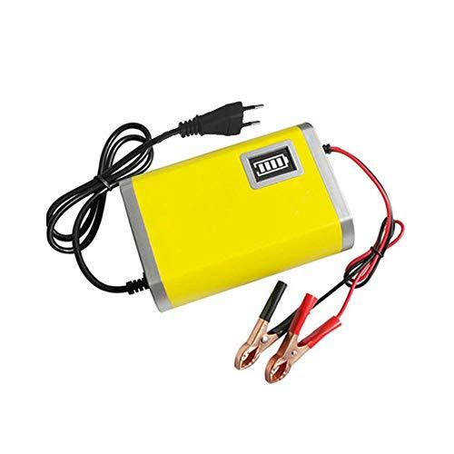 QWERDF Smart Auto Moto Caricabatteria 12V 2A / 6A Automatica Piena Intelligent Power Charger 3 Fasi per Piombo AGM G