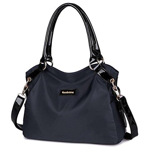 Imagen de eshow bolsa de mujer bolsos de bandolera de hombro para mujeres bolsos grande de mano bolsos desigual de viaje shopper marca moda negrp alternativa