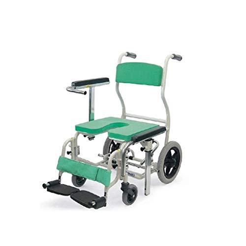 A WALKER Manuale di Self-propelledElderly Antiscivolo in Lega di Alluminio Bath Chair Bathing Sedia a rotelle con Ajustable Altezza sedie a rotelle ArmrestAll Fuorist