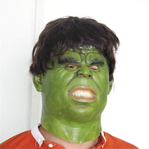 (VUKUB Halloween Dekoration Horror Hulk Maske Kostüm Maske Cosplay Vollkopf Maske Latex Fire Wolf)