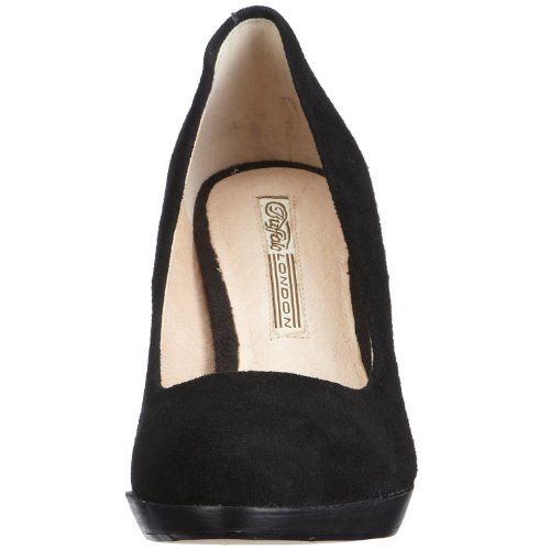 Buffalo London 109-3499 KID SUEDE 109018 Damen Pumps Schwarz (Black 01)