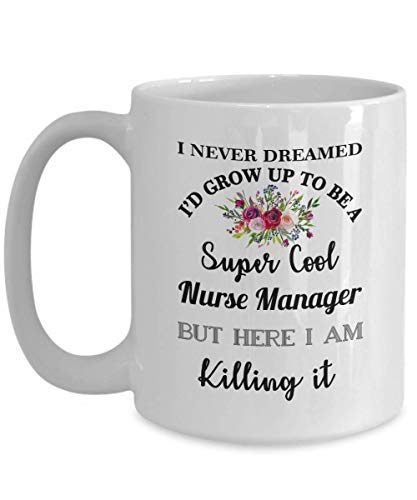 ZGNNN-EU Nurse Manager Mug Gift For Her Women Nursing Boss Supervisor Best Ever Okayest Worlds Effin Christmas Birthday Funny Coffee Cup Idea