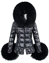 FEITONG nuevo invierno De las mujeres Algodón parka de piel Collar Encapuchado Capa Acolchado Chaqueta