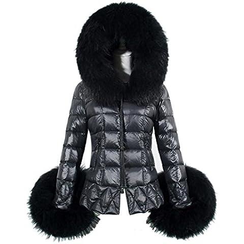 FEITONG nuevo invierno De las mujeres Algodón Collar Encapuchado Capa Acolchado Chaqueta
