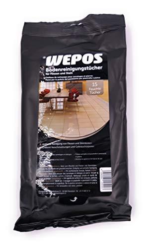 WEPOS Bodenreinigungstücher für Fliesen und Stein (3 x 15 Stück) (2)