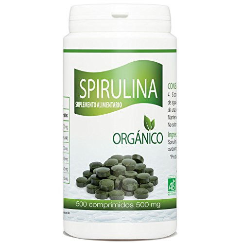 Spirulina Organico 500mg - 500 comprimidos