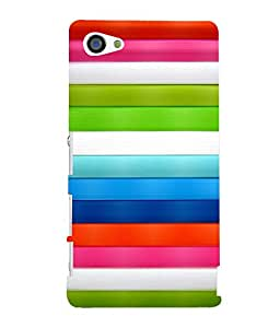 printtech Colored Lines Back Case Cover for Sony Xperia Z5 Compact::Sony Xperia Z5 Mini