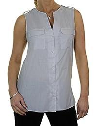 ICE (4069-1) sin mangas abierto del cuello de la túnica camisa mini