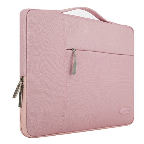 MOSISO Tasche Sleeve Hülle für 13-13,3 Zoll MacBook Pro, MacBook Air, Notebook Computer Multifunktionshülsen Spritzwasserfest Laptoptasche Notebooktasche Aktentaschen Handtaschen Kasten mit zusätzlichem Stauraum Polyester Schutzhülle, Pink