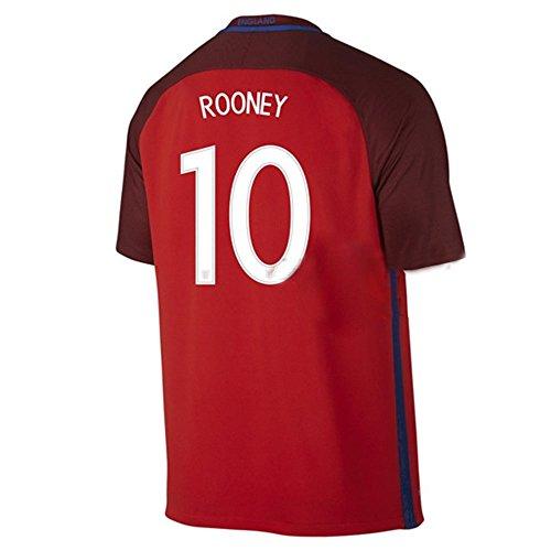 2016UEFA Euro Cup England 10Wayne Rooney Away Fußball-Trikot in Rot xl rot