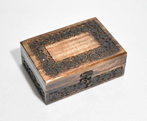 Hind Handgefertigte und handgefertigte Rosenholz-Ränder mit Gravur-Holz-Urnen für menschliche Asche 7