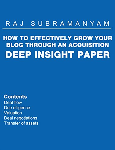 How to effectively grow your blog through an acquisition eBook: Raj
