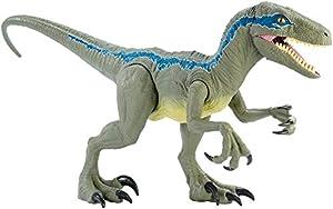 Mattel - Jurassic World Velocirráptor Blue Supercolosal, Dinosaurio de Juguete (Mattel GCT93)