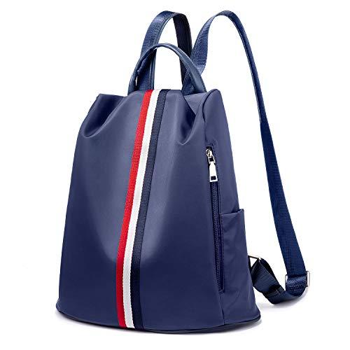 Damen Rucksack wasserdichte Daypack Schultaschen Diebstahlsicher Tagesrucksack Schultertaschen- Navy Blau