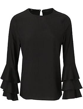 Sharplace Camisa Tapas Flojas Muchachas Poliéster Camiseta de Verano Formal Moda Mujer