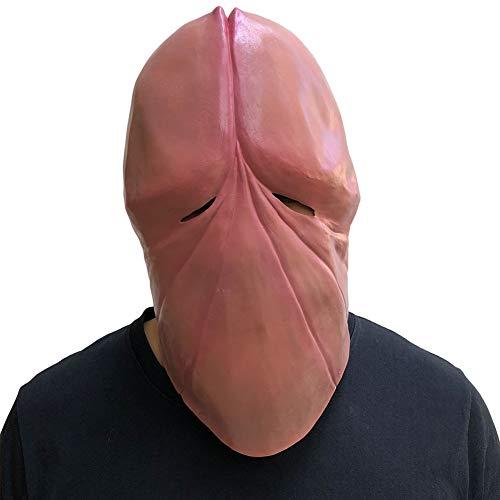 YXXHM- Halloween lustige Kopfbedeckungen Männer und Frauen Kopfbedeckungen lustige Spaß ordentlich Spielzeug Penis Hut Naturlatex