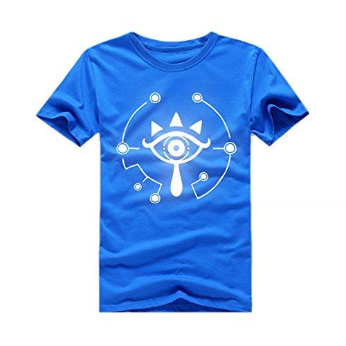 Sommer T-shirt Cosplay Kostüm Baumwolle Round Collar Shirt Kurz Ärmel Hoodie Pullover Top Kleidung für Herren (Link Of Legend Zelda Kostüm Hoodie)