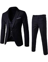 Homme Haut de Costume Trois-Pièces d'affaire Mariage Business Suit Veste & Gilet & Pantalon