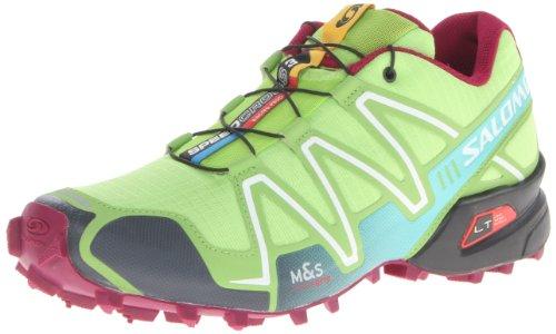 Salomon Women's Speedcross 3 W Trail Running Shoe,Firefly Green/Green Bean/Mystic Purple,7 M US