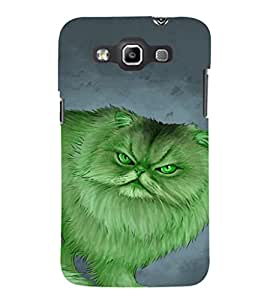 EPICCASE Green Cat Mobile Back Case Cover For Samsung Galaxy Quattro (Designer Case)