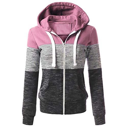 Senoly Damen Mantel Kurz Jacke Retro Niet Zipper Up Bomber Streetwear Damenjacke Frauen Reißverschluss Oben Bomberjacke Cool Streetwear...
