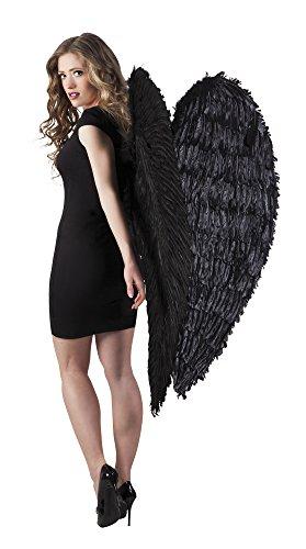 Struts Fancy Dress Extra große Schwarze Feder Engel Flügel