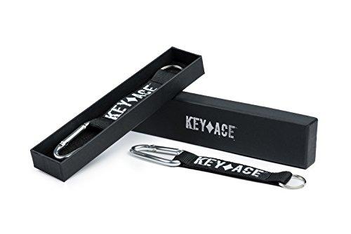 KEY-ACE 2X Premium Schlüsselanhänger/Schlüsselband mit Karabiner und Edler Geschenkbox