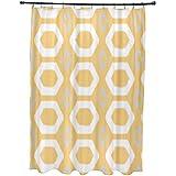 E por diseño más abrazos y besos impresión geométrica cortina de ducha, limón