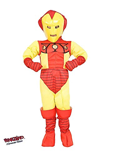 Costume di carnevale da eroe di ferro vestito per ragazzo bambino 7-10 anni travestimento veneziano halloween cosplay festa party 3879 taglia 9/l