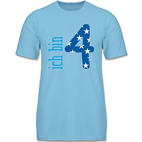 Shirtracer Geburtstag Kind - Ich Bin 4 Blau Junge - 104 (3-4 Jahre) - Hellblau - F140K - Jungen T-Shirt