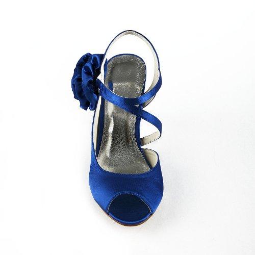 Jia Jia Wedding A31B16 Scarpe Sposa Scarpe col tacco donna Blu