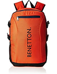 United Colors of Benetton 22 Ltrs Orange Casual Backpack (16A6BAGT7003I)