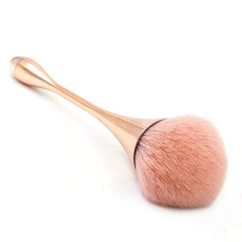 Foundation Make-up Pinsel, Puderpinsel und Rougepinsel für tägliches Make-up (Rose golden)