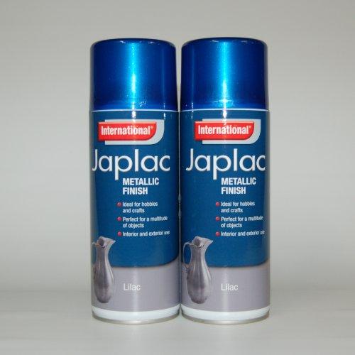 international-japlac-metallic-finish-spray-paint-lilac-2-x-400ml-multipack
