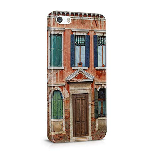 INNOGLEN Beautiful Old Damaged House, Orange Building, Shutters 3D iPhone 5 / 5s Hülle a364g
