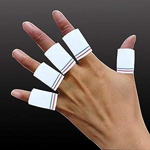 RFGHATG 10-teiliger Finger-Daumen-Ärmel-Basketball-Fingerschutz-Haken-Griff für Gewichtheben-Krafttraining-Eignungsübung