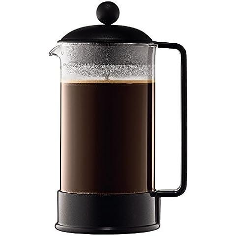 Bodum Brazil - Cafetera, 8 tazas, 1 l, color negro