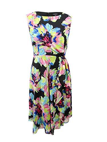 Tahari ASL Floral A-Line Midi Dress