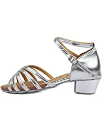 HROYL Zapatos de baile/Zapatos latinos de satín Niñas ES-N02
