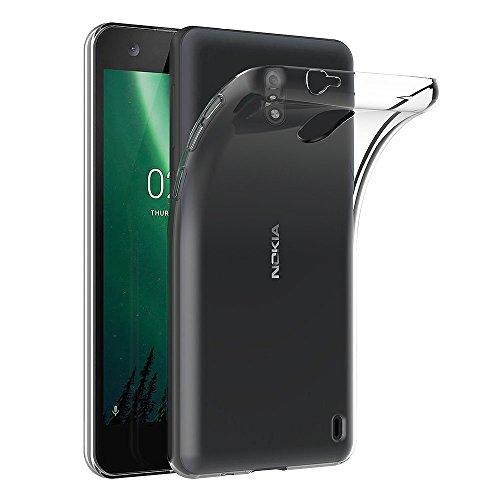 AICEK Cover Nokia 2, Cover Nokia 2 Silicone Case Molle di TPU Trasparente Sottile Custodia per Nokia 2 (5,0 Pollici)