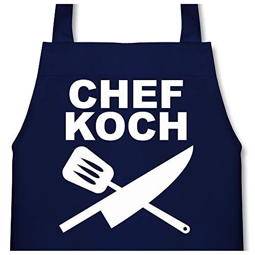 Shirtracer Kleine Köche & Bäcker - Chefkoch Messer - 60 cm x 50 cm (H x B) - Navy Blau - X978 - Kinder Kochschürze