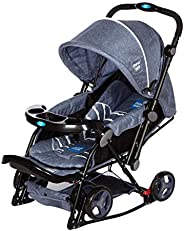 Mee Mee Baby Pram with Adjustable Seating Positions and Reversible Handle (Grey)