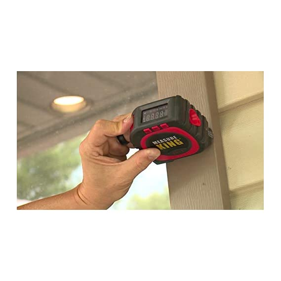 AZOD Measure King 3-in-1 Digital Tape Measures String , Sonic and Roller Mode (Black)
